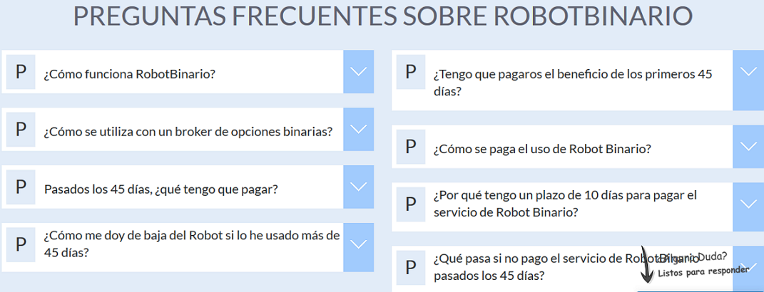 preguntas frecuentes robotbinario.com